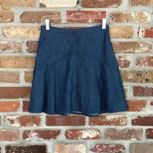 Madewell Denim/Chambray Flare Mini Skirt